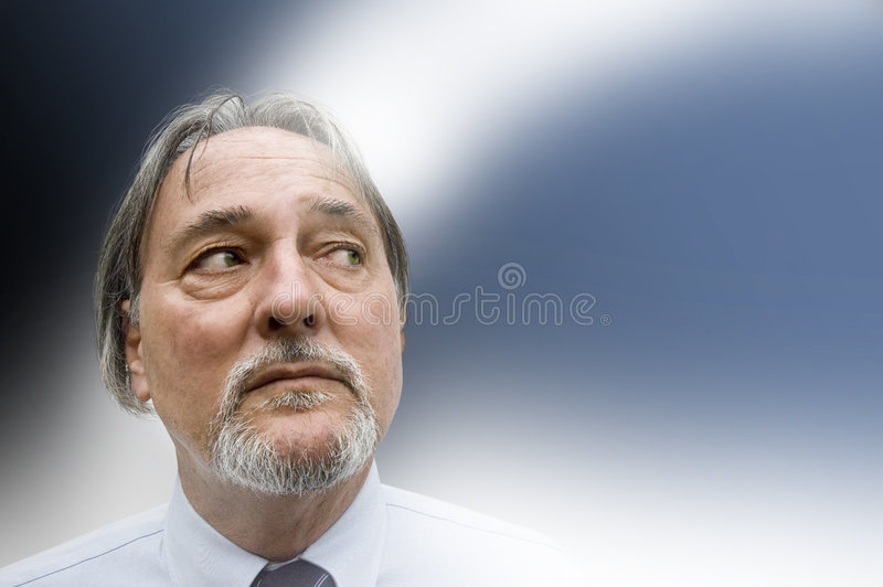 Man with concerned look stock photos