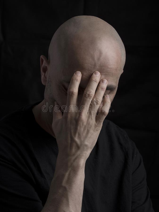 Worried man thinking royalty free stock photos