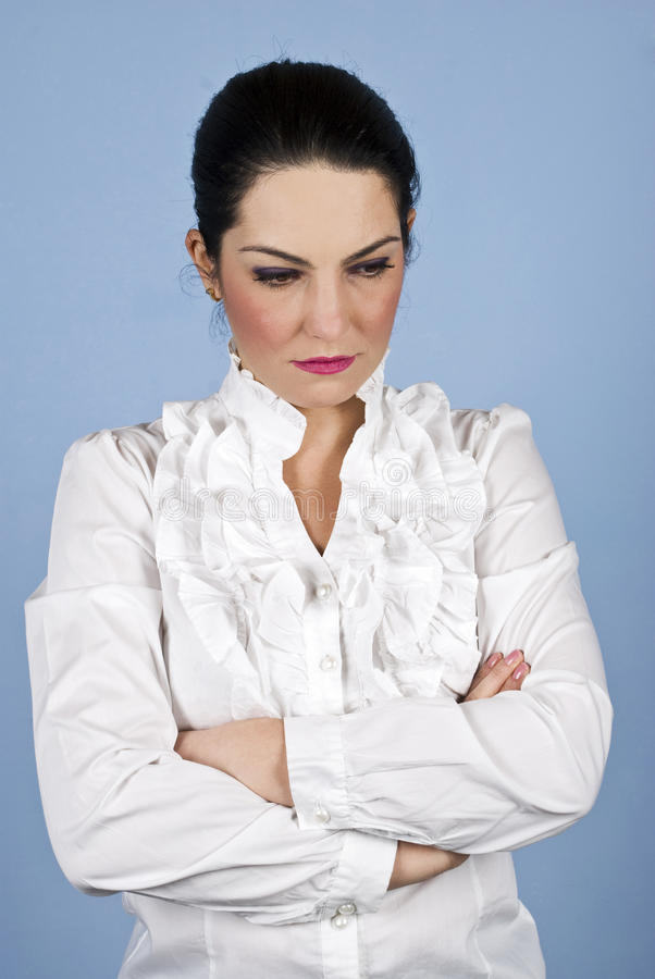 Download Worried sad businesswoman stock photo. Image of corporate - 12493464