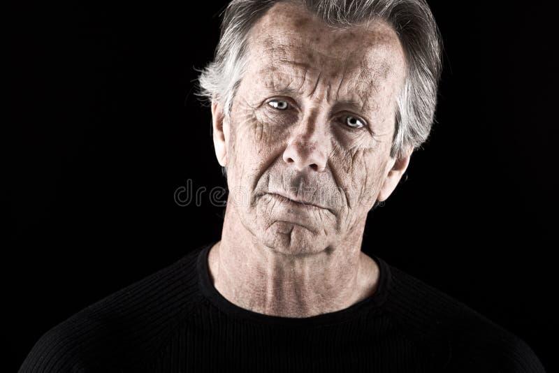 Worried Senior Male stock image