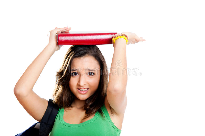 Download Worried teenager student stock photo. Image of female - 15637838