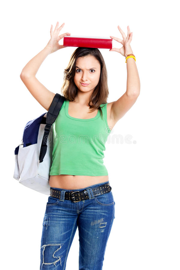 Worried Teenager Student Royalty Free Stock Photo