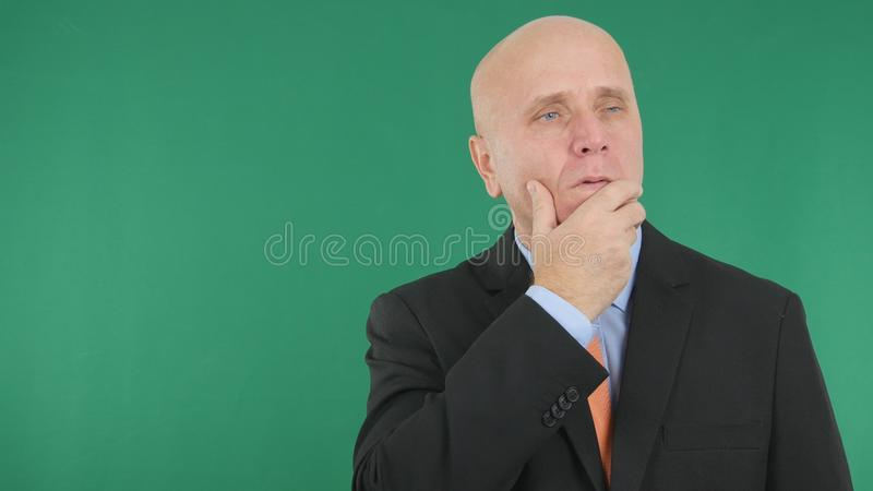 Worried and Troubled Businessperson Make Disappointed Hand Gestures. Image with Worried and Troubled Businessperson Make Disappointed Hand Gestures royalty free stock photography