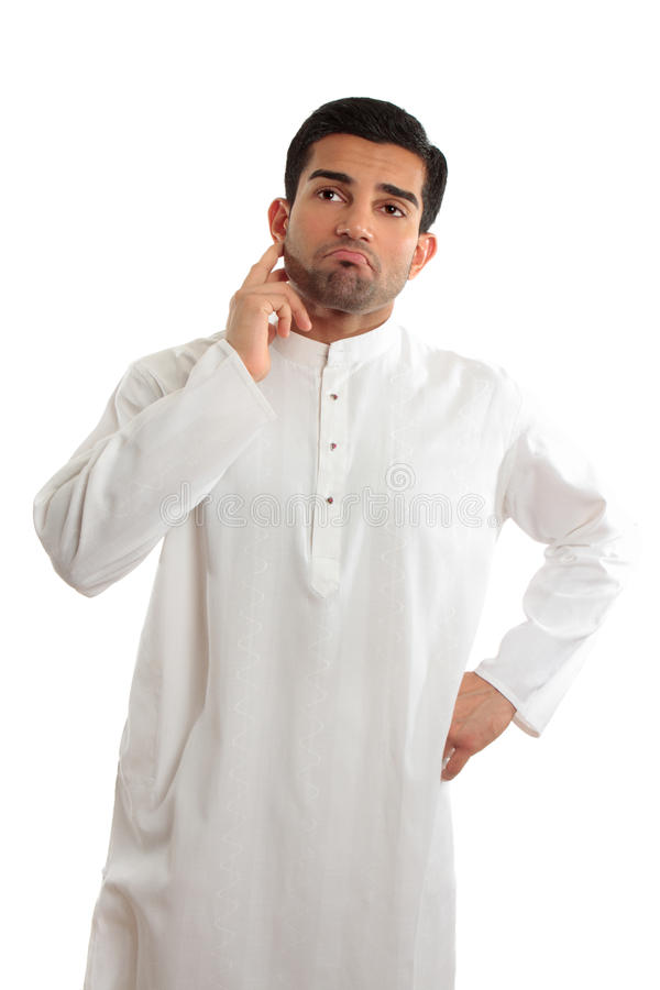 Free Worried Troubled Ethnic Man Wearing A Kurta Stock Photography - 13385042