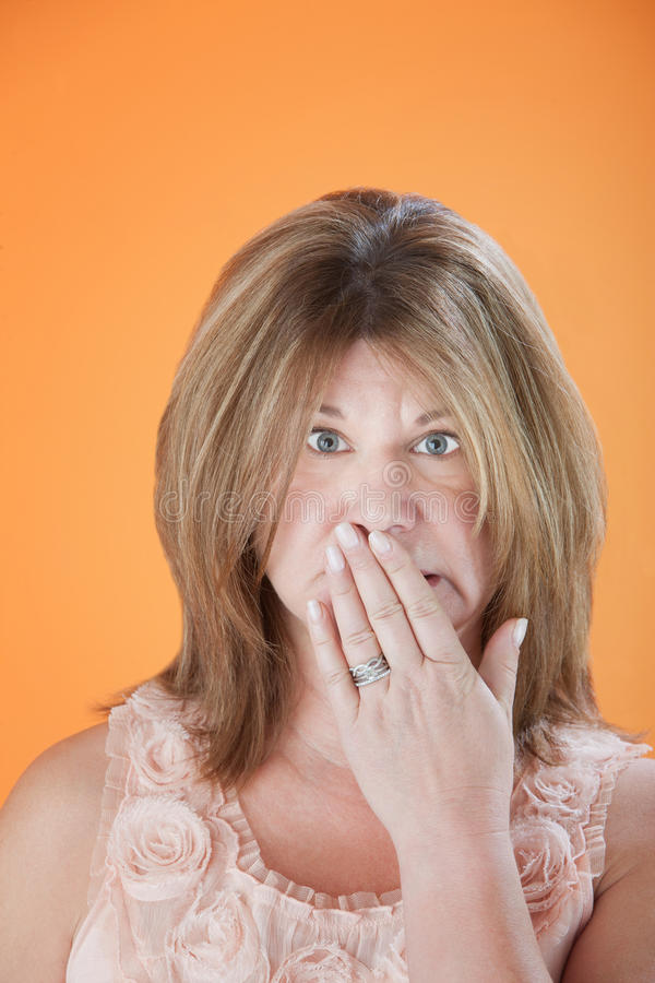 Download Worried Woman stock image. Image of orange, plus, lady - 19732409
