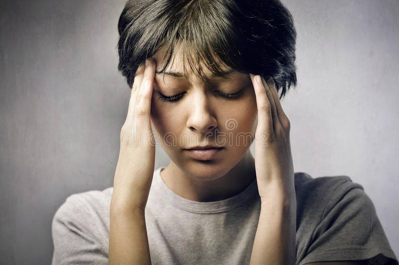 Worried woman royalty free stock photography