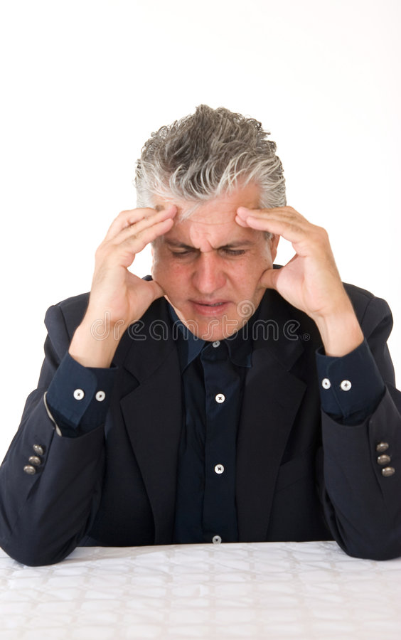 Worried at work royalty free stock photo