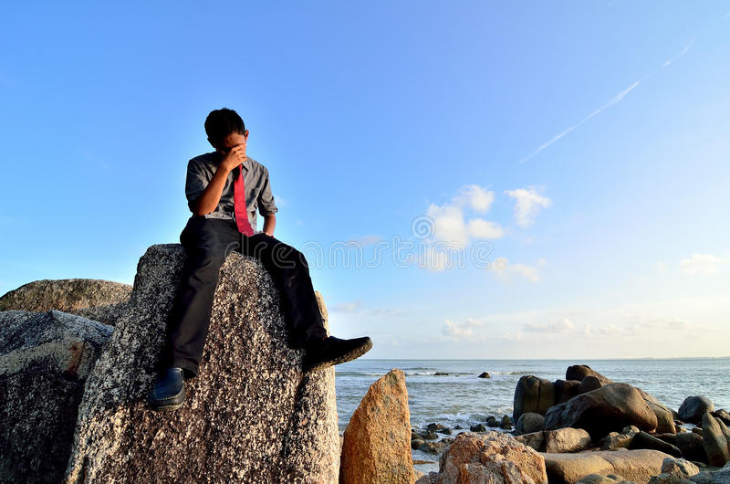 Download Worried young businessman stock image. Image of cloud - 39511539