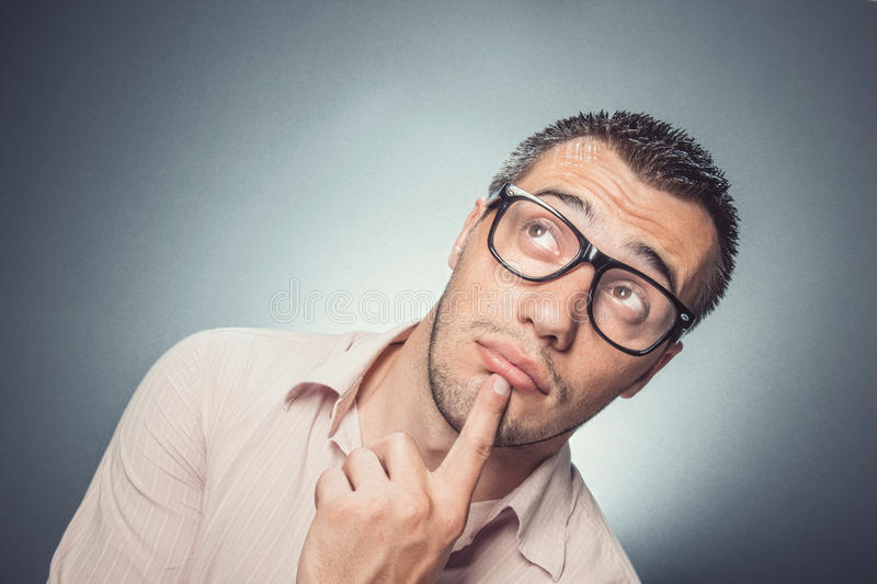 Worried young man royalty free stock image
