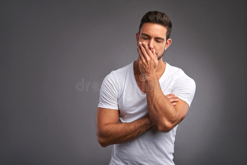 Worried young man royalty free stock images