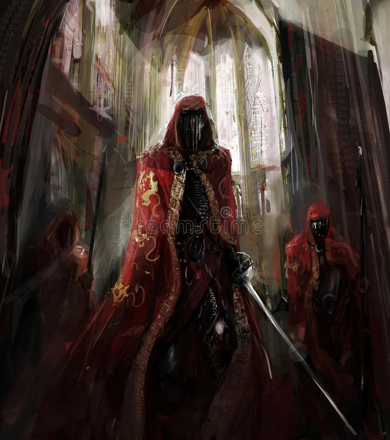 Worriors del sacerdote illustrazione vettoriale