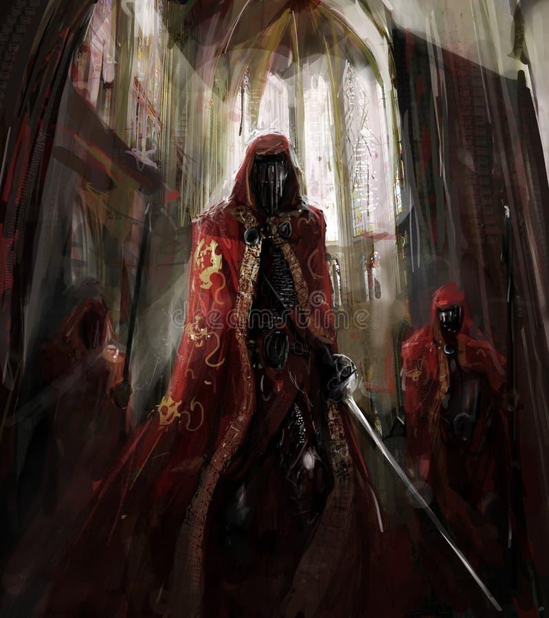 Worriors do padre ilustração do vetor