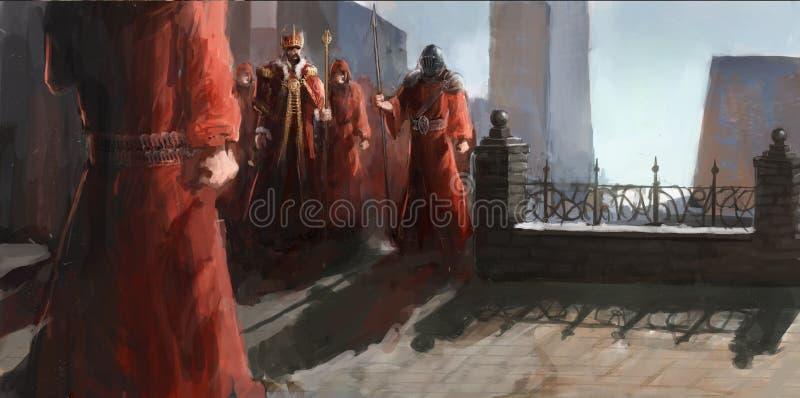 Worriors do padre ilustração royalty free