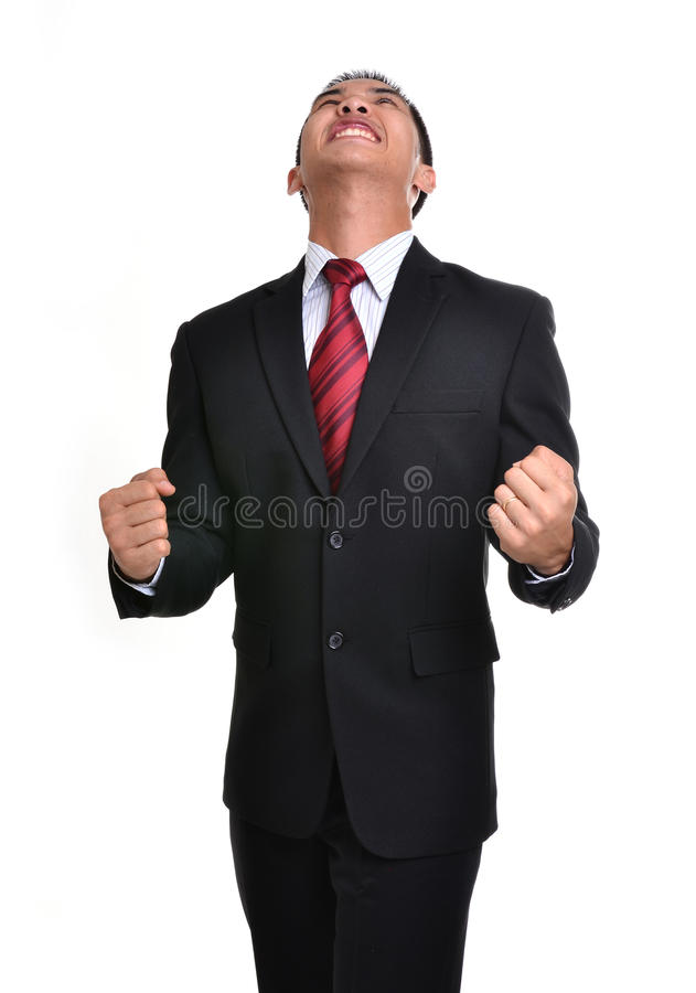 Worry Business Man Isolated Stock Image