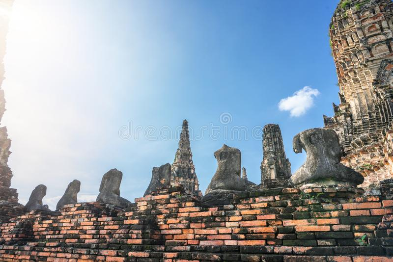 Worship of Thailand,Buddha statue,History of Thailand stock images
