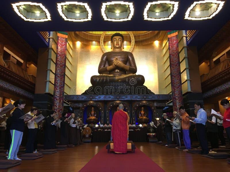 Worshipers Praying To Buddha Statue Free Public Domain Cc0 Image