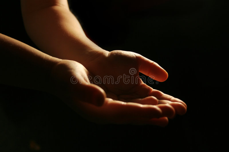 Worshiping hands royalty free stock image