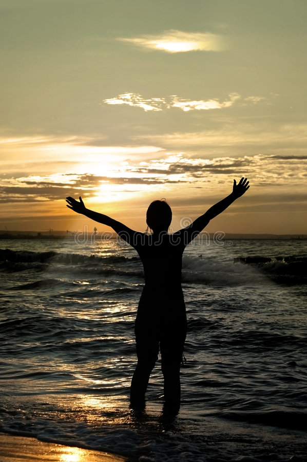 Download Worshipper Against Sunset Stock Photography - Image: 3402702