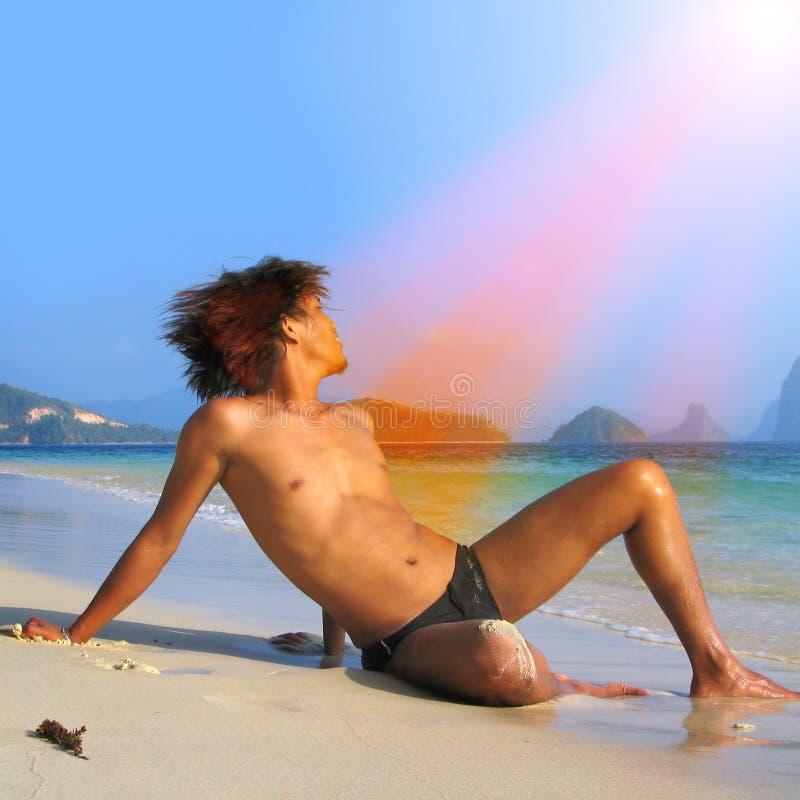 Worshipper esotico dei Sunrays fotografie stock libere da diritti
