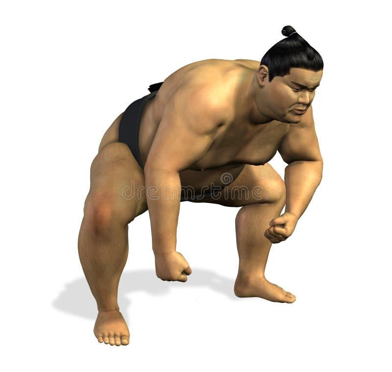 Worstelaar 1 van Sumo stock illustratie