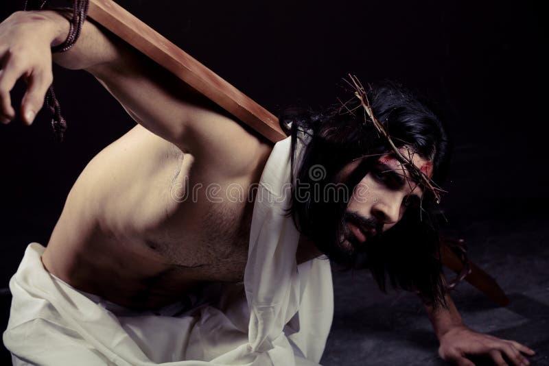 Download Worstelende Jesus-Christus Voor Pasen Stock Foto - Afbeelding bestaande uit orthodox, mustache: 29512944