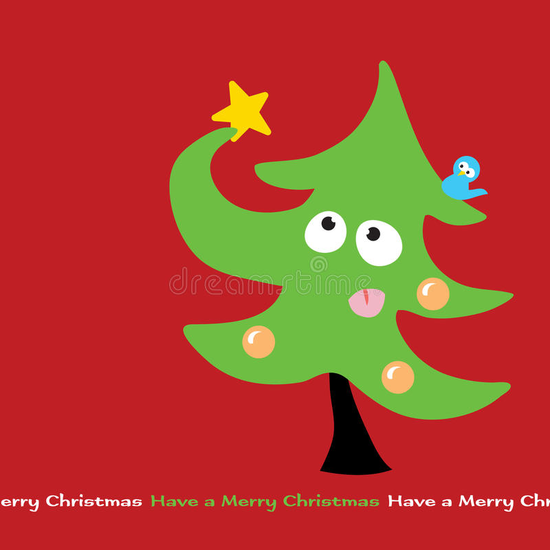 Worstelende Kerstboom stock illustratie