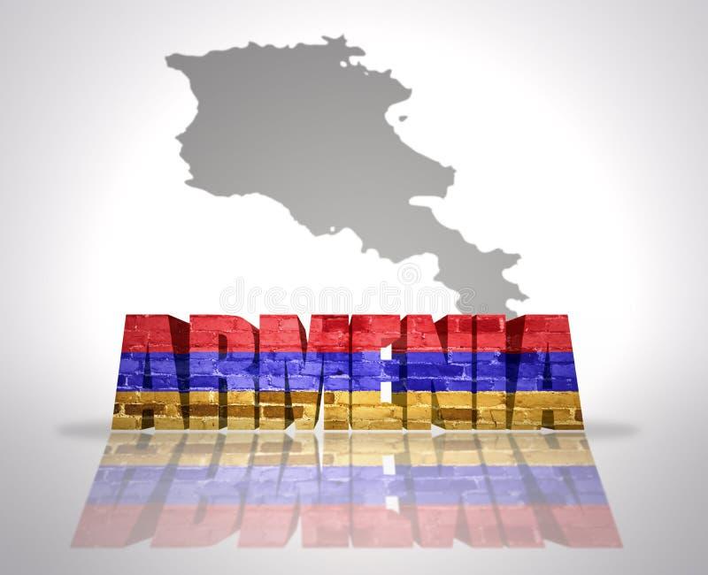 Wort Armenien lizenzfreie stockbilder