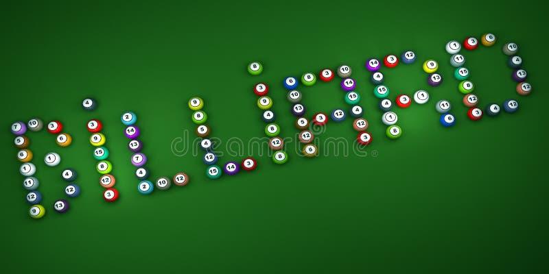 Wort-Billiard stock abbildung