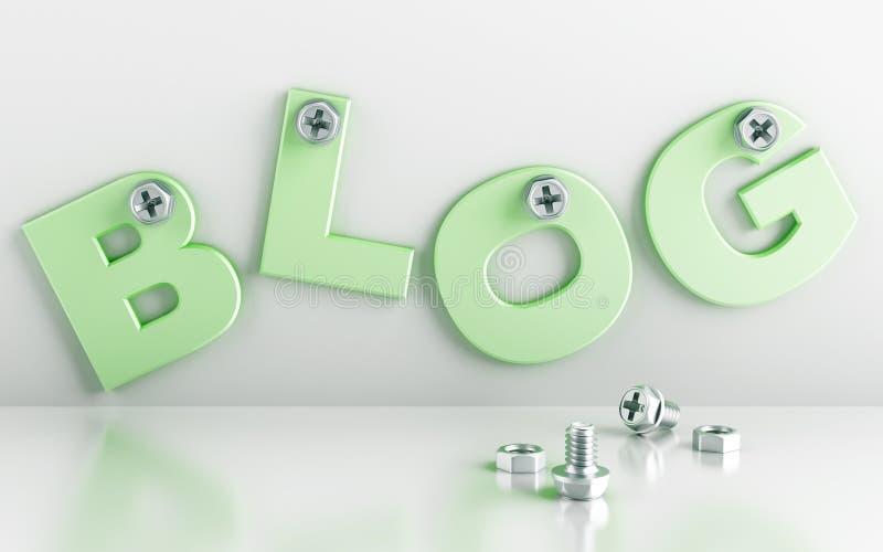 Wort-Blog vektor abbildung