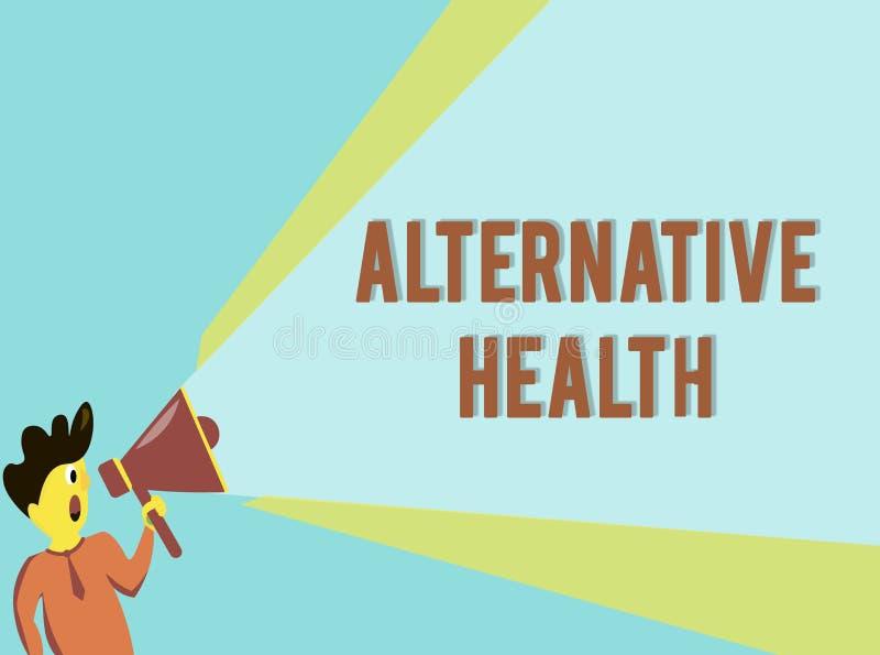 Wort, das Text alternative Gesundheit schreibt Geschäftskonzept für Arztpraxen, die nicht Teil Standardsorgfalt sind stock abbildung