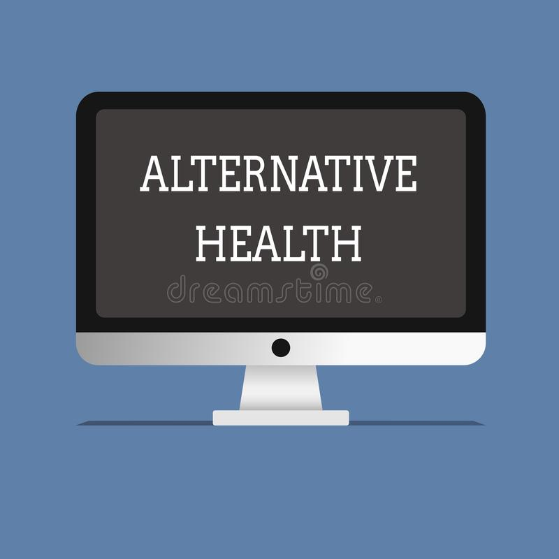 Wort, das Text alternative Gesundheit schreibt Geschäftskonzept für Arztpraxen, die nicht Teil Standardsorgfalt sind vektor abbildung