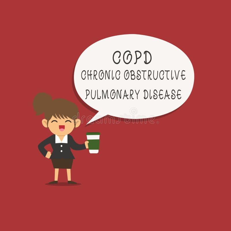 Wort, das Text Copd-chronisch obstruktive Lungenerkrankung schreibt Geschäftskonzept für Lungenerkrankung Schwierigkeit zum Atem vektor abbildung