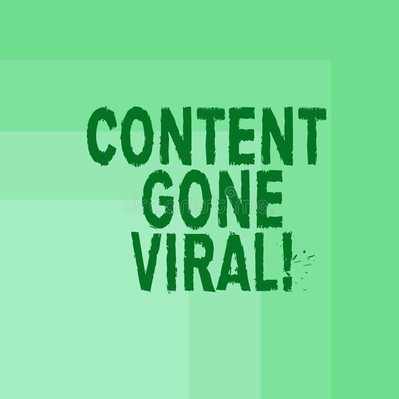 Wort, das Text Inhalt Viren gegangen schreibt Geschäftskonzept für Bildvideoverbindung, die schnell durch Bevölkerung verbreitet stock abbildung