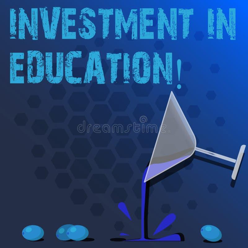 Wort, das Text Investition in Ausbildung schreibt Geschäftskonzept für Attain Wissen, das das Erwerben des Cocktails erhöht lizenzfreie abbildung