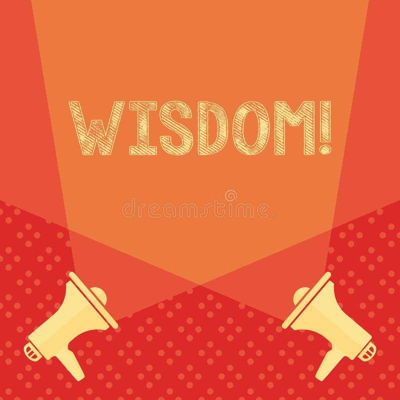 Wort, das Text Klugheit schreibt Geschäftskonzept für die Qualität, die Erfahrungswissen und -gesunden Menschenverstand etwas  vektor abbildung