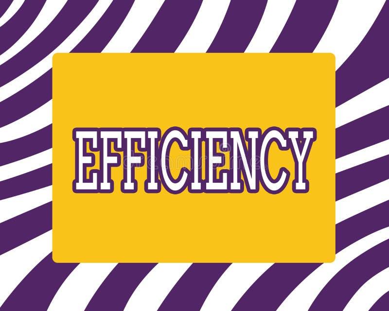 Wort, das Text Leistungsfähigkeit schreibt Geschäftskonzept für Zustand oder Qualität des Seins leistungsfähige gute perforanalys stock abbildung