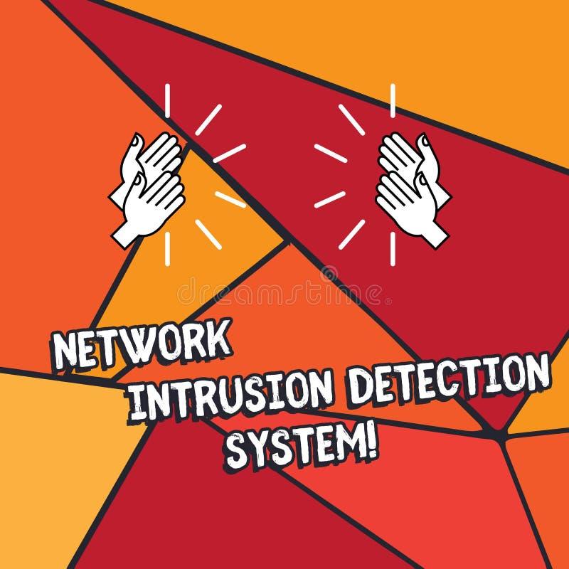 Wort, das Text Netz-Eindringen-Erfassungssystem schreibt Geschäftskonzept für Sicherheitssicherheits-Multimediasysteme HU vektor abbildung