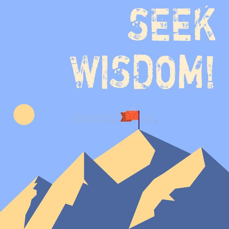 Wort, das Text Suchvorgang-Klugheit schreibt Geschäftskonzept für Denkfähigkeitstat unter Verwendung des Wissenserfahrungsverstän vektor abbildung