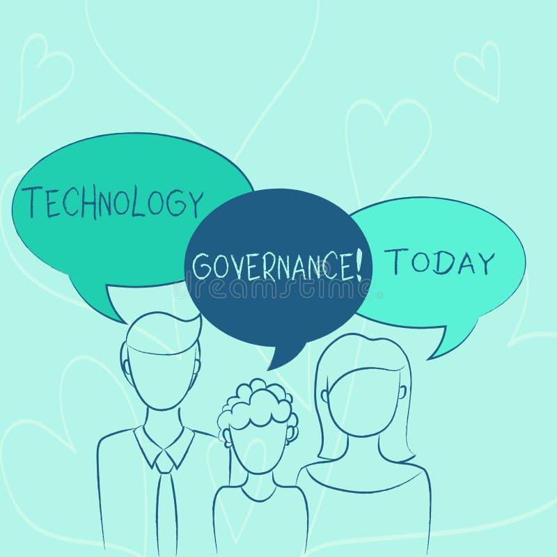 Wort, das Text Technologie-Regierungsgewalt schreibt Geschäftskonzept für Rahmen, das formale Struktur für Institut zur Verfü vektor abbildung