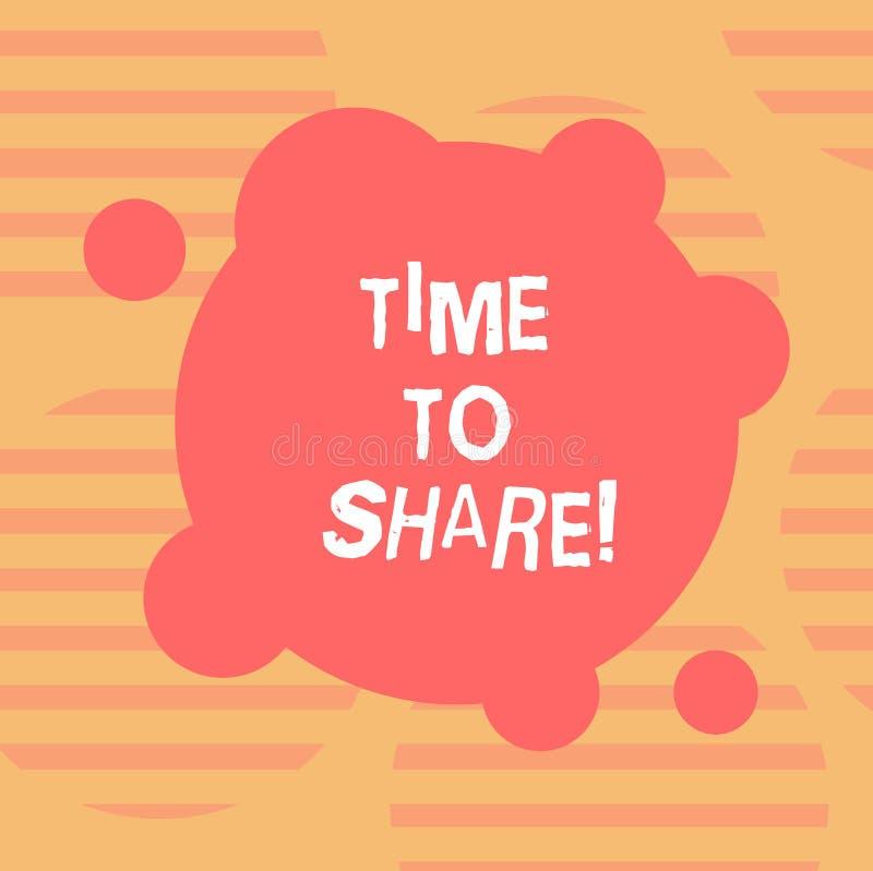 Wort, das Text Zeit schreibt zu teilen Geschäftskonzept für Communicate mit Ihren Freunden und Familie verbreitete den verformten stockbild