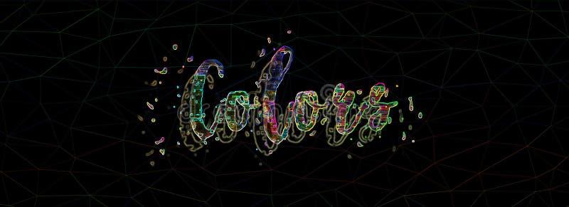 Wort färbt Neon lizenzfreies stockfoto