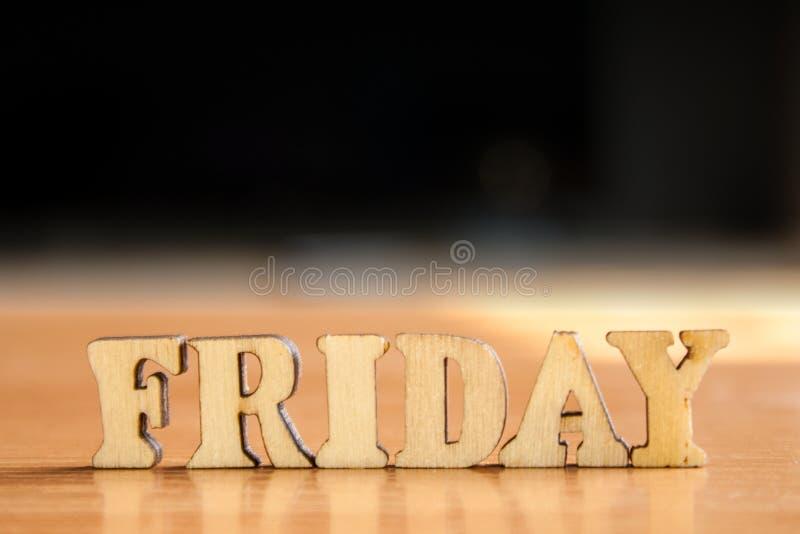 Wort Freitag stockfoto