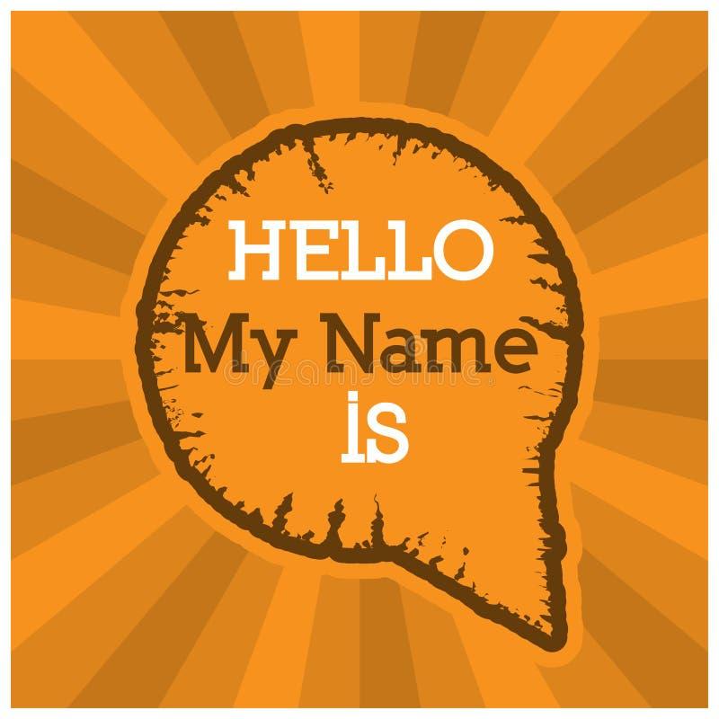 Wort, hallo mein Name Vektor-Illustrationskonzept für Introduce schreibend sich vektor abbildung