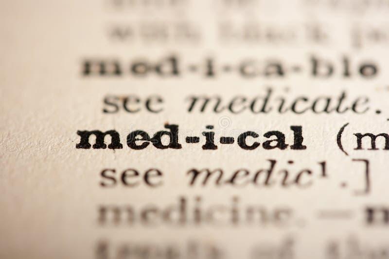 Wort medizinisch stockbild