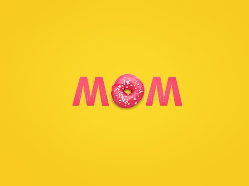 Wort-Mutter mit rosa Buchstaben lizenzfreies stockfoto
