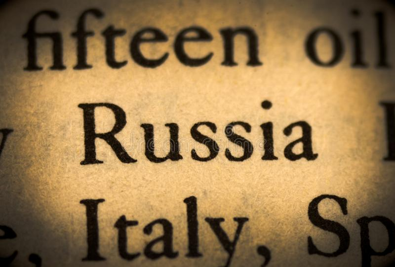 Wort Russland lizenzfreies stockfoto