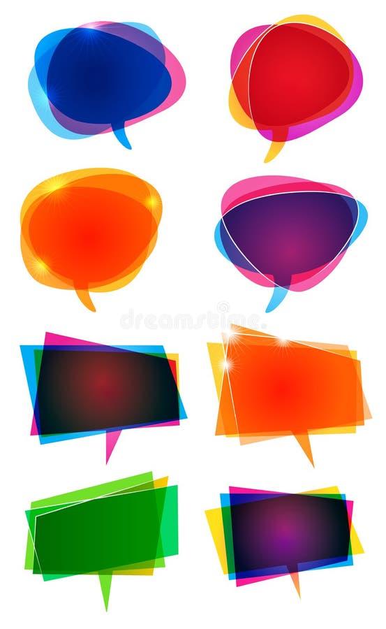 Wort-Sprache-Ballone vektor abbildung