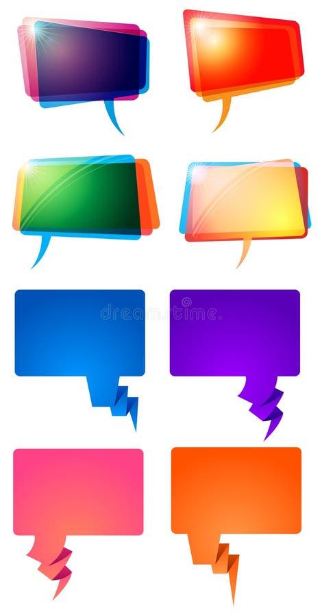 Wort-Sprache-Ballone lizenzfreie abbildung