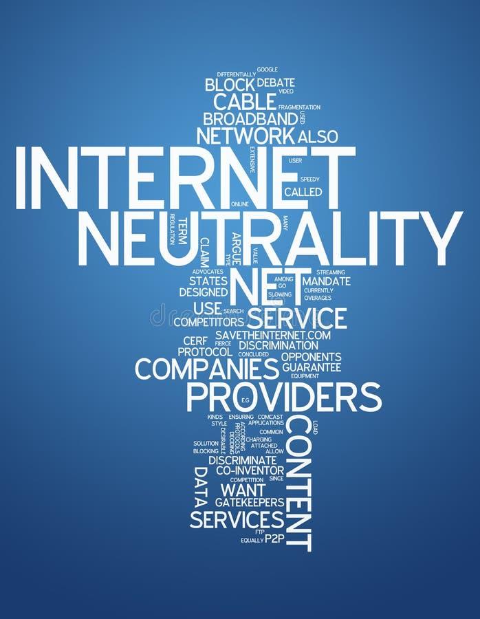 Wort-Wolken-Internet-Neutralität lizenzfreie abbildung