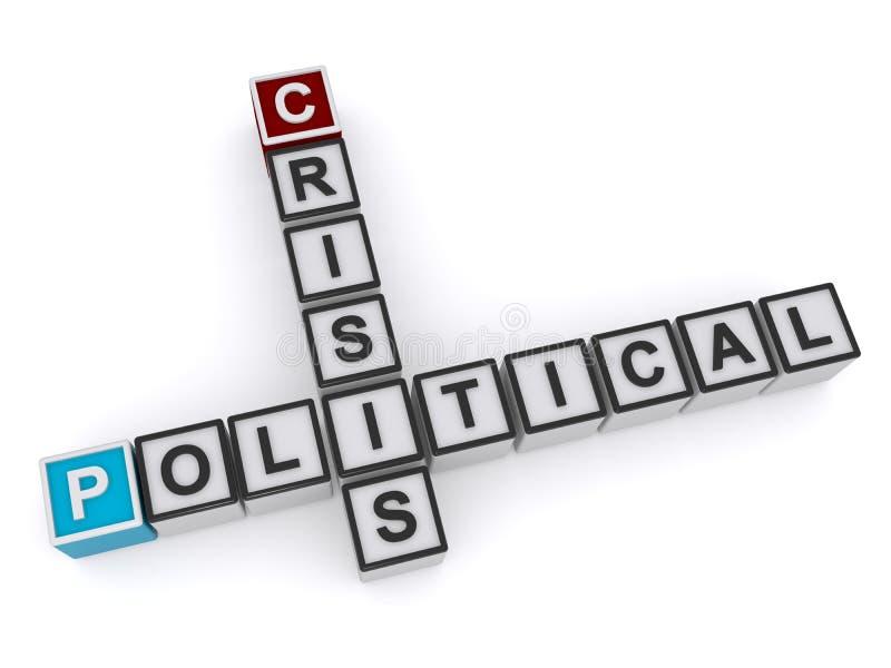 Wortblock der politischen Krise stock abbildung